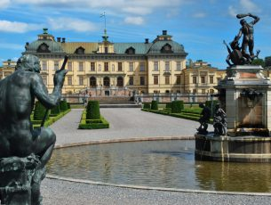 Drottningholm, the Swedish royal summer residence ( Drottningholms slott )